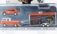 Set 3er-Set: VW T2 Pick Up 1972 and VW Beetle 1967 with Enclosed Car Hauler