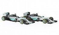 Mercedes 2er-Set: AMG F1 W06 Hybrid N.Rosberg Nr. 6 + L.Hamilton No.44
