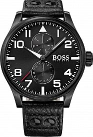 Hugo Boss 1513083 Aeroliner black 50mm 5ATM