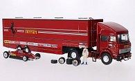 Ferrari + Fiat Renntransporter-Set: Scuderia Ferrari - GP San Marino