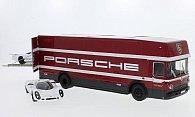 Porsche 3er-Set: Renntransporter mit 908 Kurzheck und 908 Langheck