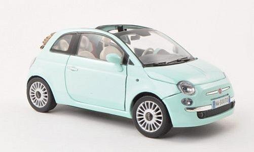 model auta fiat 500 cabrio 1 18. Black Bedroom Furniture Sets. Home Design Ideas