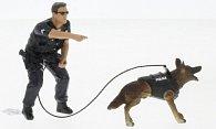 Figur Police Officer and K9 Dog - Unit II
