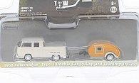 VW VW T2 Doppelkabine mit Teardrop Wohnwagen