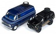 Set 2er-Set: Jeep Cherokee XJ und 1976 Chevrolet G-20 Van