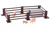 Zubehor Schweine mit Zaun und Stall